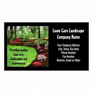 Plush green landscape lawn care business business card for Lawn business cards