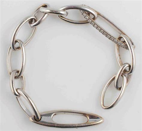 catena pomellato pomellato bracciale a catena con diamanti antiquariato