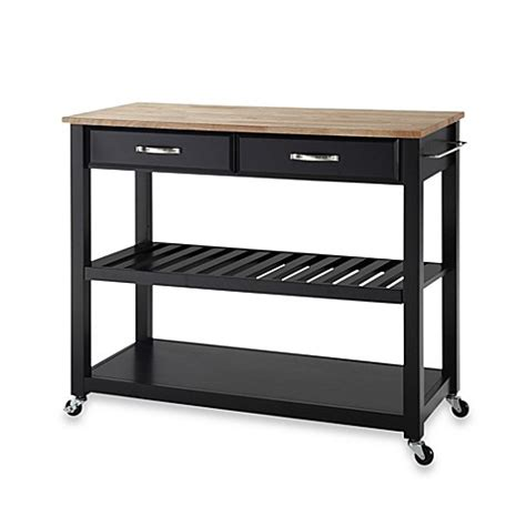 wheeled kitchen islands crosley wood top rolling kitchen cart island with