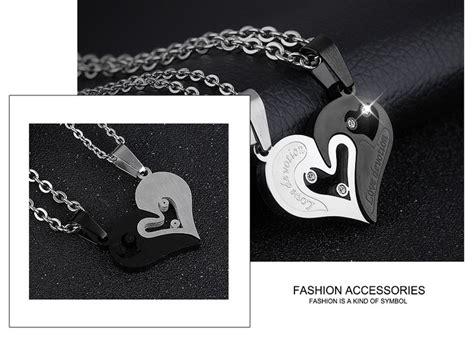 necklace set letter love devotion couple necklace fashion