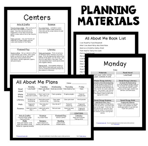 all about me theme preschool classroom lesson plans 281 | AAM PT Planning Materials
