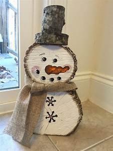 Pinterest Bricolage Jardin : bonhomme de neige en bois par monkeybuttarts sur etsy ~ Melissatoandfro.com Idées de Décoration