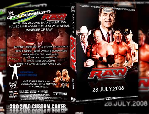 Wwe Raw 28.july 2008 Dvd Cover By Y2jgfx On Deviantart