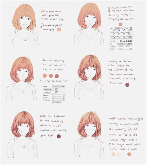 Coloring Tutorial Sai by This Is For Paint Tool Sai A Small Hair Coloring