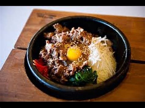 hot stone bibimbap dolsot bibimbap youtube