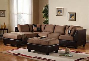 3 piece modern reversible microfiber faux leather for 3 pieces saddle microfiber reversible sectional sofa set ottoman