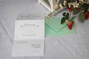 tri fold vintage wedding invitation With tri fold all in one wedding invitations