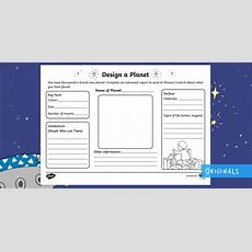 Design Your Own Planet Worksheet  Creative Resource Twinkl