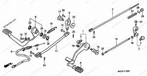 Honda Motorcycle 2003 Oem Parts Diagram For Pedal