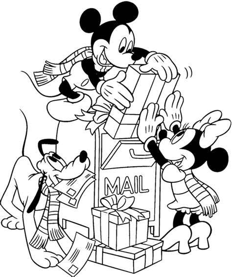 disney christmas coloring pages picture