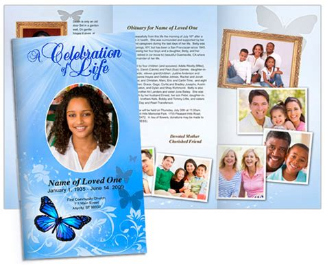 butterfly large trifold brochure template tabloid size