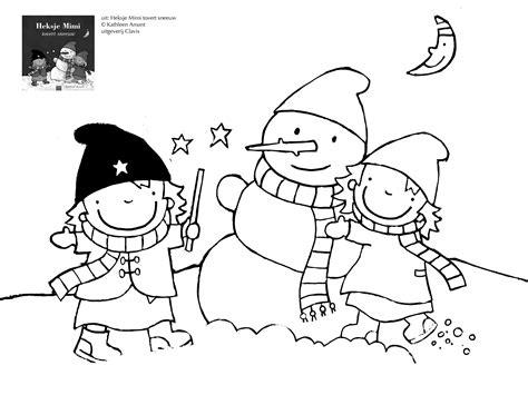 Kleurplaat Heksje Mimi by Heksje Mimi In De Sneeuw Thema Heksje Mimi Kleurplaten
