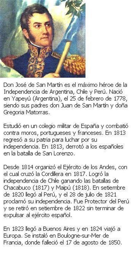 Biografia De Resumen by Biograf 237 A De San Mart 237 N Taringa