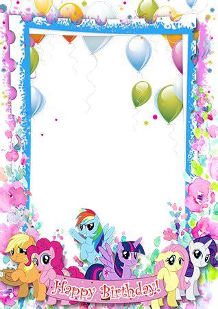 molduras fotos happy birthday   pony