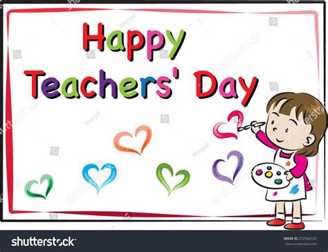 happy teachers day card stock vector  shutterstock