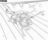 Thor Caballero Zeichen Ritter Colorear Montando Malvorlagen Ein Bohater Rycerz Teken Ridder Caballo Cielo Kolorowanki Kleurplaten Een Cavaleiro Ausmalbilder Dibujos sketch template