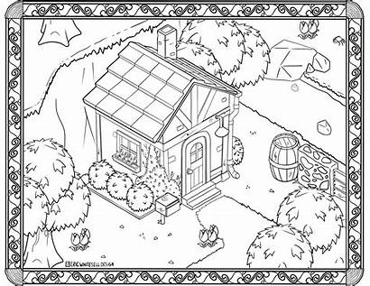 Coloring Drawing Animalcrossing