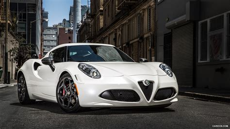 2015 Alfa Romeo 4c (usspec) White  Front  Hd Wallpaper