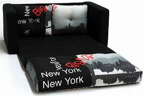 Canapé New York : canape lit deplimousse first tissu new york noir ~ Teatrodelosmanantiales.com Idées de Décoration