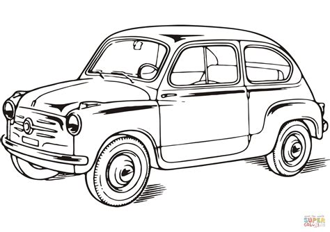 Fiat Panda Kleurplaat by Desenho De Fiat 600 Para Colorir Desenhos Para Colorir E