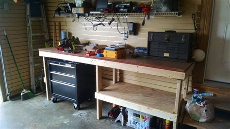 garage workbench  steps  pictures