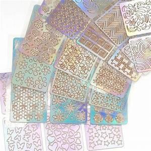 12 Sheet  24 Sheet Nail Art Vinyl Stencil Guide Sticker