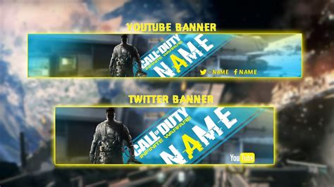 banner template call of duty infinite warfare free call of duty infinite warfare youtube and twitter