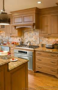 Kitchen Backsplash Ideas With Wood Cabinets by Pictures Of Kitchens Traditional Light Wood Kitchen