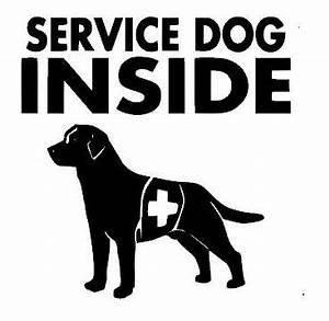 Service Dog Car Window Decal - $1 00 - Handmade Home Decor
