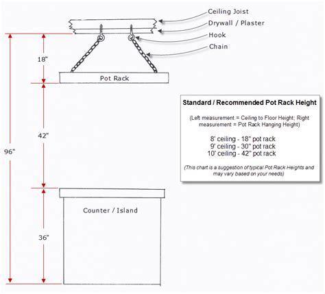 Hanging Pot Rack Installation Guide