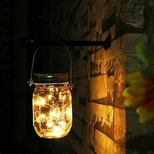 Lichterkette Außen Sommer : mason jar licht garten licht gartendeko solar wasserdichte lichterkette au en ~ Orissabook.com Haus und Dekorationen