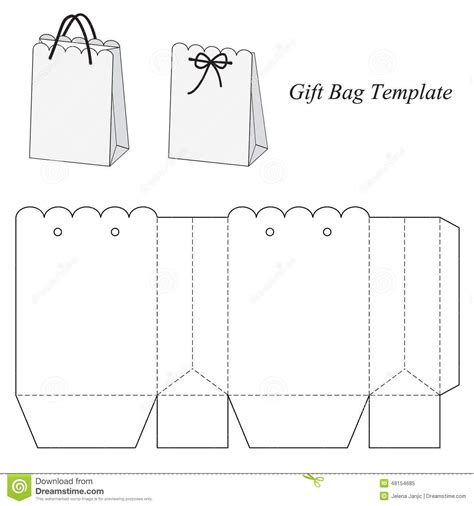 Handbag Gift Box Template by Interesting Gift Bag Template From 52