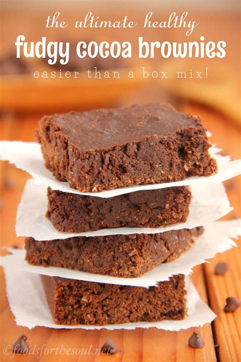 easy desserts with cocoa powder the ultimate healthy fudgy cocoa brownies s healthy baking
