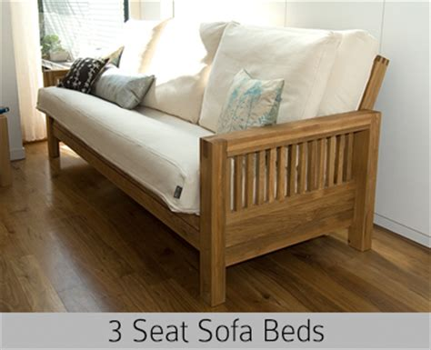 Futon company single seater solid oak sofa bed 'loop', upgraded comfort mattress. Single, Double, 2 & 3 Seater Sofa Beds | Futon Company