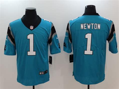 Men's Carolina Panthers# 1 Cam Newton Blue Vapor
