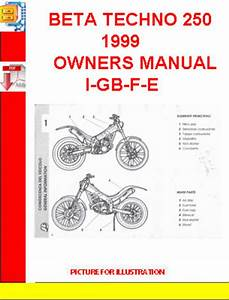 Beta Techno 250 1999 Owners Manual I-gb-f-e