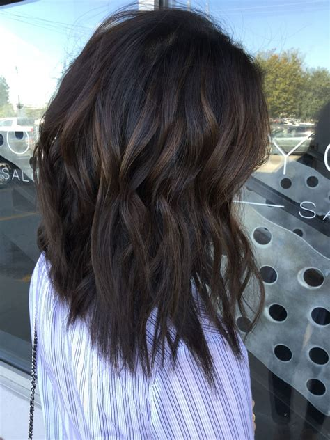 Brown Hair In by Soft Caramel Balayage On Brown Hair Dimensional