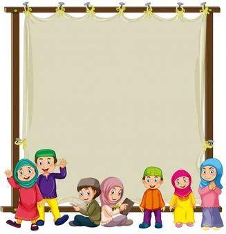 Image result for frame lucu islami Kartun Spanduk Gambar