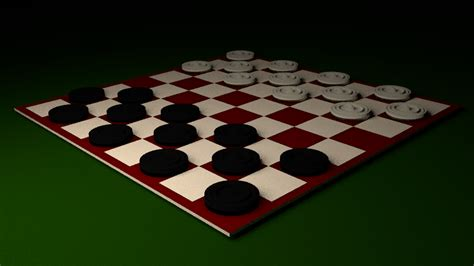 red white checker board  asset cgtrader