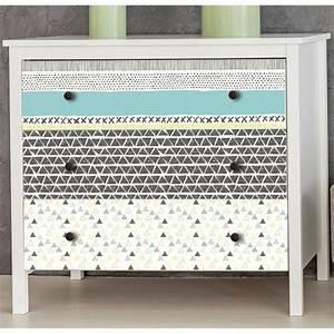 Papier Deco Meuble : stickers scandinaves pour meubles et tiroirs gris verts bleus ~ Teatrodelosmanantiales.com Idées de Décoration