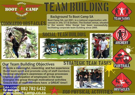 durban team building venue  boot camp sa durban kzn