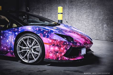 galaxy themed lamborghini aventador roadster  canada