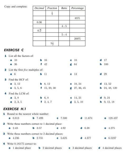 maths worksheets for grade 6 hcf and lcm them