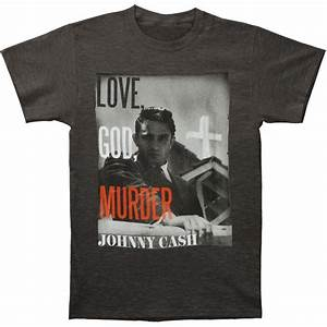 Rockabilia Size Chart Johnny Cash Love God Murder T Shirt Rockabilia Merch Store
