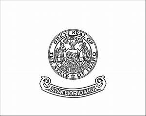 idaho state flag coloring page - idaho flag coloring page purple kitty