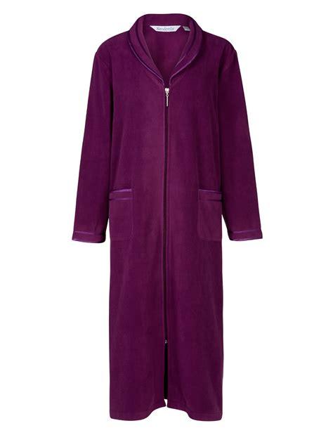 robe de chambre polaire fermeture eclair slenderella femmes anti pilule fermeture éclair robe de