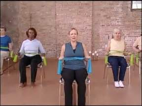 core strength warm up chair exercise video elderly