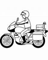 Motorcycle Coloring Motorbikes Motorbike Policeman Easy Pages Drawing Printable Police Bike Motorcycles Bikes Children Topcoloringpages Getdrawings sketch template