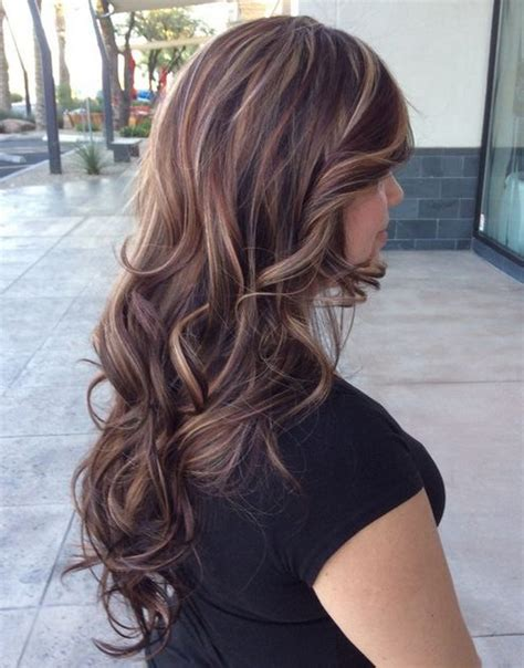 layered hair color ideas hair color ideas for brunettes with highlights