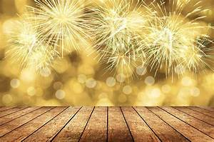 fireworks canary yellow bokeh background for